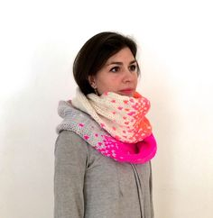 Ravelry: pixel cowl pattern by Jennifer Beaumont
