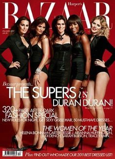 Yasmin LeBon, Helena Christensen, Cindy Crawford, Naomi Campbell and Eva Herzigova by Jonas Ackerland for Harpers Bazaar Dec 'The Ultimate Supergroup' the coterie of supermodels who played Duran Duran in the video for Girl Panic. Yasmin Le Bon, Helena Christensen, Cindy Crawford, Naomi Campbell, Fashion Week, 90s Fashion, Fashion Models, Fashion Editor, Cheap Fashion