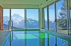 indoor swimming pool with awesome view !!!!!
