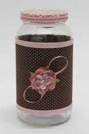 Resultado de imagem para potes de vidro com tecido