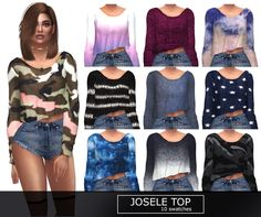 Josele TopNew swatches, love them so much and also thank you so much @nonaaasims for this amazing sim ! Thank you @hallowsims for the mesh ! ^-^ - 10 swatches - Mesh by @hallowsims -Hope you like it...