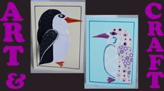 Follow a step by step video that shows you how to make a simple Christmas card with children. Ideal for the classroom or the kitchen table; all you need are some basic supplies. #christmas-crafts #penguin-card #art
