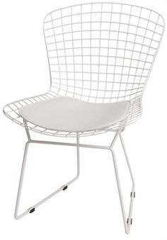 Replica Harry Bertoia chair for breakfast nook