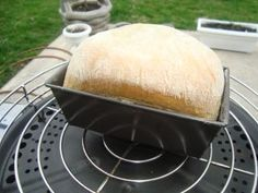 Baking bread on the Cobb Portable Charcoal Grill