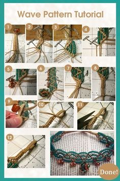 With some beads and string, you can work actually creative friendship bracelet pattern along with the way you knotting. It's an essentially easy-to-follow project for a wavy DIY friendship bracelet!