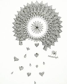 Falling Mandala Inspired by Mandala Art, Mists, Coloring Pages, Doodles, Inspired, Tattoos, Instagram Posts, Flowers, Inspiration