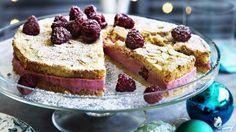 Dan Lepard's raspberry almond mousse cake.