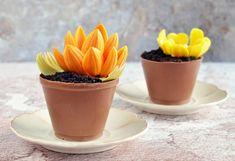 Csokis mangó mousse torta - ehető virágcserépben vagy á la nature :) Oreo, Mousse, Panna Cotta, Ethnic Recipes, Food, Sweet, Candy, Dulce De Leche, Essen