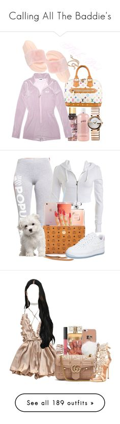 """Calling All The Baddie's"" by melaninprincess-16 ❤ liked on Polyvore featuring Victoria's Secret, philosophy, Louis Vuitton, C Label, Gucci, Nigaam, Wet Seal, Chanel, MCM and NIKE"