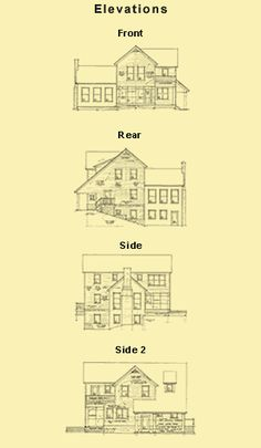 Traditional Farmhouse Plans and 3 Bedroom 2 Story Farmhouse Plans Notice the lowest level fitting into hillside