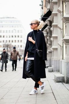 victoria tornegren stockholm fashion blog adidas superstar all black