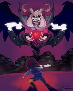 * You confront Asriel head on, the monster quite close to you. * You are filled with DETERMINATION