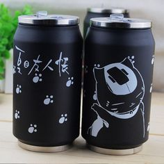 Black Natsume Yuujinchou Madara Print Stainless Steel Insulation Cup Thermos $17.50  #Lovejoynet #Animation