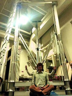 Japanese Designers Create a Gigantic Delta 3D Printer – 4 Meters Tall http://3dprint.com/8835/japan-huge-delta-3d-printer/