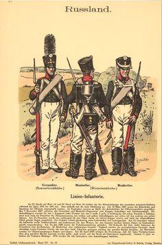 Knotel 867: Line Infantry 1808-09. Grenadier (summer trousers), Grenadier & Musketeer (winter trousers).