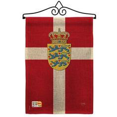 Breeze Decor Denmark Of The World 2 Sided Burlap 19 X 13 In Garden Flag Breeze Decor Burlap Decor