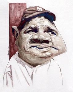 Babe Ruth by Marvin Lorenz