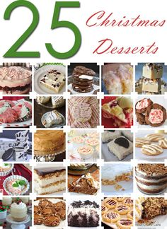 25 Awesome Christmas Desserts ~ soooo yummy! www.oneshetwoshe.com #christmas #recipes #desserts