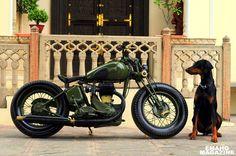 """Laado"" by Rajputana Customs, India. Restored and Customized 1942 BSA M-20 ... 500cc WW-II Army Model."