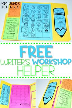 If you do kindergarten or first grade writer's workshop in your classroom, you need to check out this freebie! It is a free writer's workshop printable that your students can use as a tool during writing time.