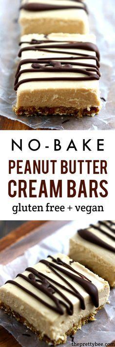 No-Bake Peanut Butter Cream Bars