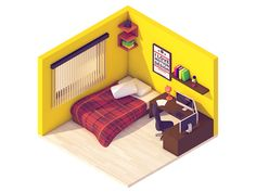 Isometric Motion Designer Room by Gustavo Henrique