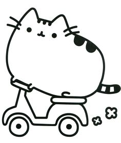 Pusheen Cat on Scooter coloring pages printable and coloring book to print for free. Find more coloring pages online for kids and adults of Pusheen Cat on Scooter coloring pages to print. Pusheen Coloring Pages, Cat Coloring Page, Cartoon Coloring Pages, Animal Coloring Pages, Coloring Pages To Print, Free Coloring Pages, Printable Coloring Pages, Coloring Books, Coloring Worksheets
