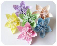 Flores de papel japonés ♥ - Origami - Productos de Papel - 12048