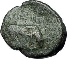 AMPHIPOLIS in MACEDONIA 148BC RARE R2 Ancient Greek Coin ATHENA BULL i68685