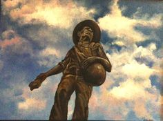 The Seed Sower, a statue known in the heart of all who attend the University of Oklahoma.