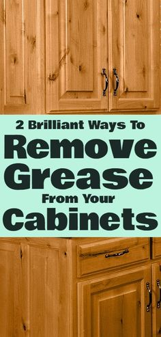 How To Remove Grease...