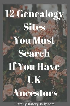 12 essential sites for researching your UK ancestry Free Genealogy Sites, Genealogy Research, Family Genealogy, Ancestry Websites, Family Tree Poster, Family Tree Research, Family Trees, Genealogy Organization, Deserts