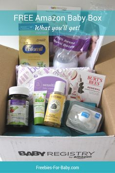 Look what came inside my FREE Amazon Baby Registry Welcome Box!  Get your free Amazon Baby Box here => http://freebies-for-baby.com/4286/amazon-baby-registry-welcome-box-what-came-inside/ #AmazonBabyRegistry #BabyRegistry