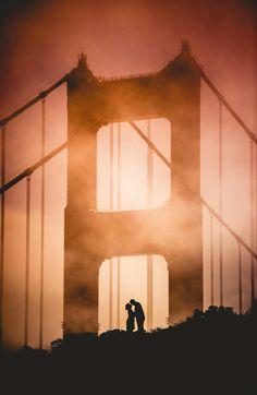 Stunning wedding photo by the Golden Gate Bridge in San Francisco | Joe Hendricks Photography