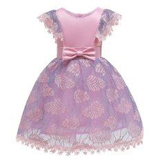9a58dd739 US $14.43 12% OFF|New Summer Party Dresses For Girls Bat Sleeve Vestidos De  Festa Infantil Polyester Girl Kids Dress Wedding Dress 2019-in Dresses from  ...