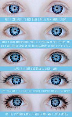 Anzujaamu's basic eye makeup tutorial!