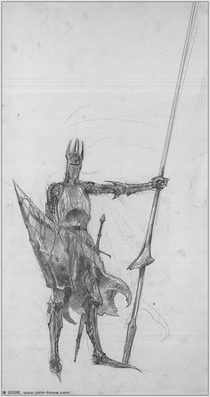 Nazgul by John Howe (concept for The LotR movie)