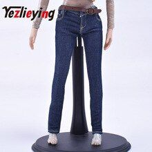 1//6 Women Leather Sleeveless Jacket Jeans Set For 12/'/' Verycool PHICEN Figure