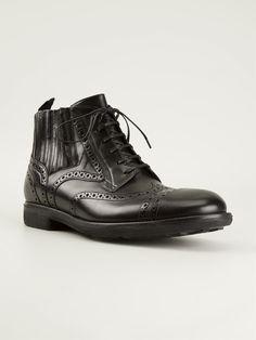newest c69af fb02c Dolce   Gabbana Brogue Style Ankle Boots - Monti Herrmode, Ankelstövlar
