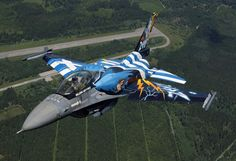 Hellenic Air Force - Image from the net NEWS : ND demands details about upgrade deal with US Op. Military Jets, Military Weapons, Military Aircraft, Jet Fighter Pilot, Fighter Jets, Hellenic Air Force, F 16 Falcon, Aircraft Painting, Airplane Art