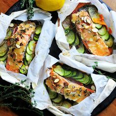 Parchment Poached Salmon with Thyme and Oranges | 23 Quick And Delicious Fish Dinners