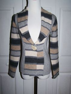 Talbots Wool Blend One Button Shawl Colar Cardigan Made in Italy Size 2 P | eBay