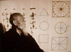 "Morihei Ueshiba Lectures. Aikido, circle triangle square. ' - ""The body should be triangular, the mind circular. The triangle represents the generation of energy and is the most stable physical posture. The circle symbolises serenity and perfection, the source of unlimited techniques. The square stands for solidity, the basis of applied control."" O'Sensei"