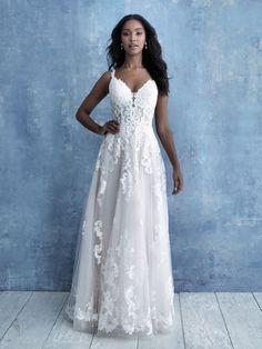 Sleeveless Lace A-line Wedding Dress on Kleinfeld Bridal Fairy Wedding Dress, Sheath Wedding Gown, Luxury Wedding Dress, Bridal Wedding Dresses, Bridal Style, Bridesmaid Dresses, Dream Wedding, Size 12 Wedding Dress, Modest Wedding