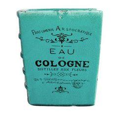 Vaso Book Cologne Azul - Presentes Criativos