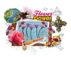 """""""Flower Power"""" by galina-780 ❤ liked on Polyvore featuring art and flowerpower"""