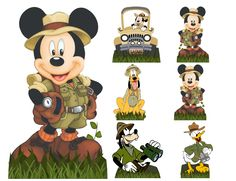 Safari do mivhei DG Safari Michely Jungle Theme Birthday, Jungle Party, Mickey Party, Safari Party, Safari Theme, Mickey Mouse Birthday, Mickey Minnie Mouse, Boy Birthday Parties, Bolo Mickey Safari