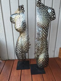 Abstract Metal art sculpture MaleTorso Nude by Holly by onlyart76