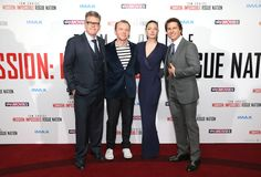 Tom Cruise and Simon Pegg were at the UK premiere of Mission Impossible: Rogue Nation