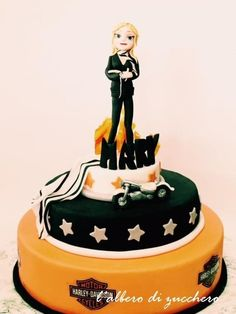 Harley Davidson party - Cake by L'albero di zucchero